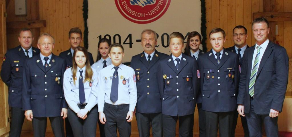 FW Steiningloh-Urspring - Ehrung Jugend 10-2014